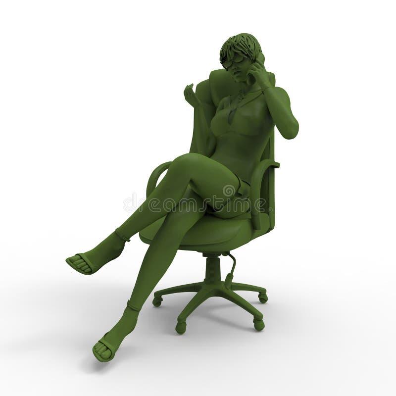 Download Talking girl stock illustration. Image of beautiful, adult - 28858631