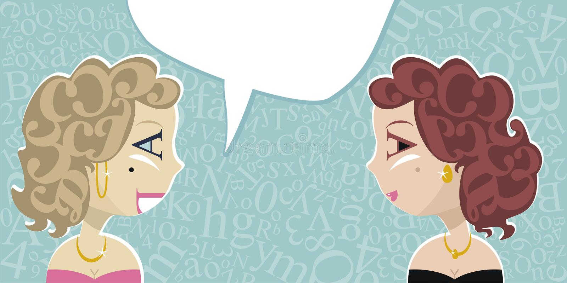 Download Talking Ladies stock vector. Illustration of people, retro - 25658695