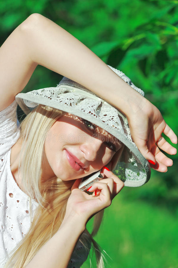 Download Talking on mobile phone stock image. Image of caucasian - 25616731