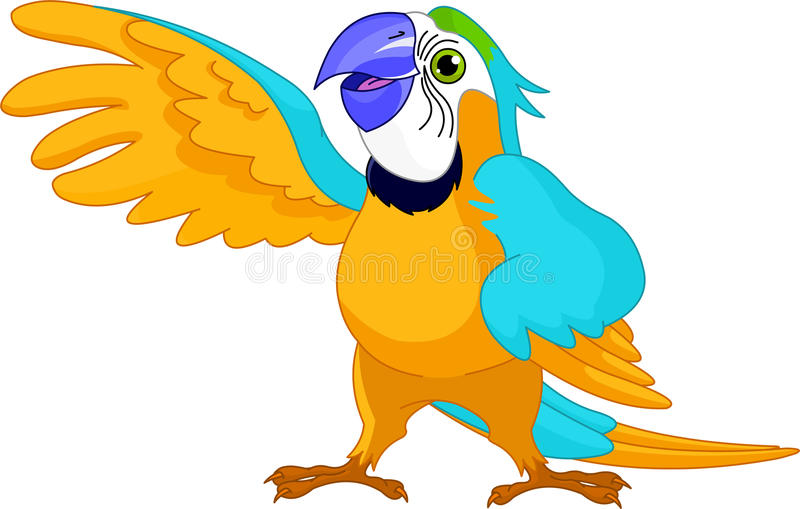 Download Talking Parrot stock vector. Image of presenting, animal - 20633038