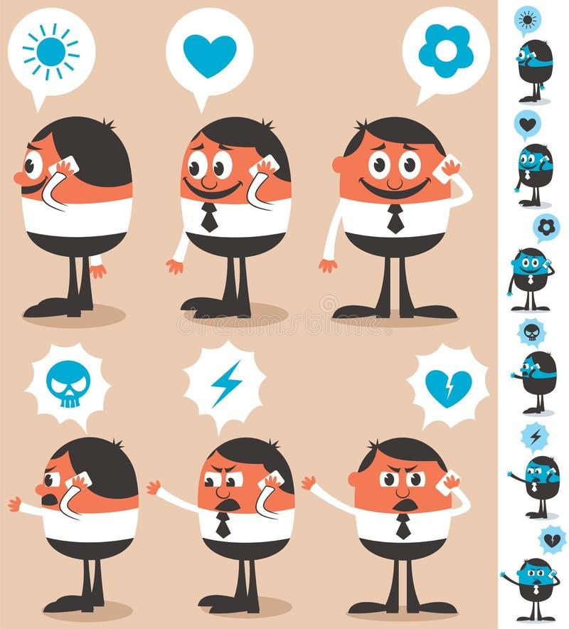 Talking On Phone royalty free illustration