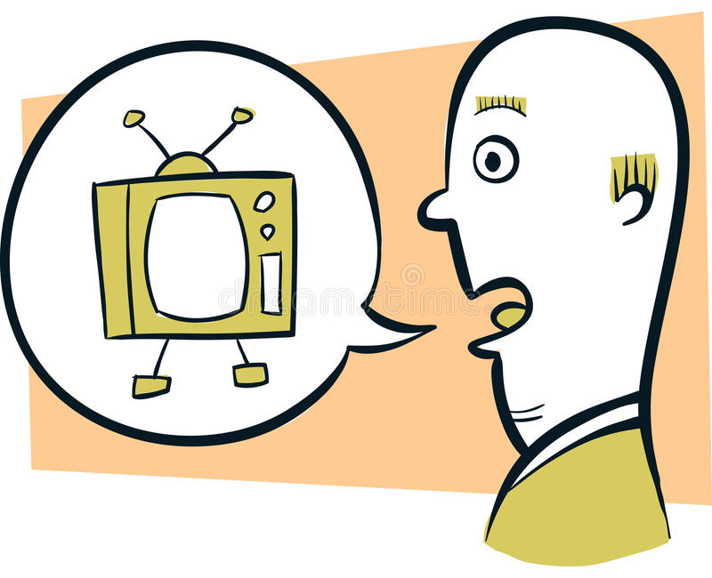 Download Talking Television stock illustration. Image of illustration - 41884308