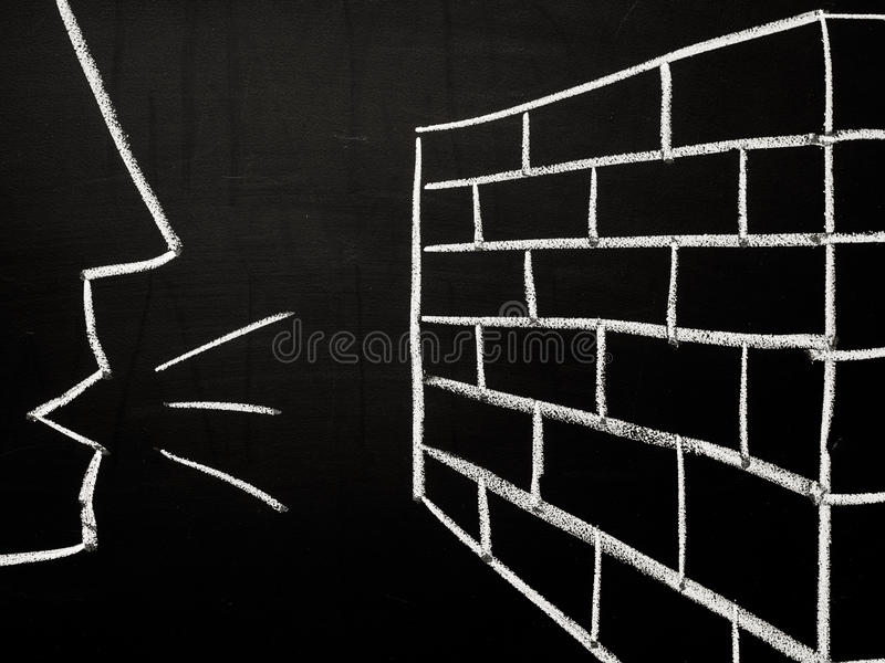 Download Talking to a brick wall stock photo. Image of stress - 27482976