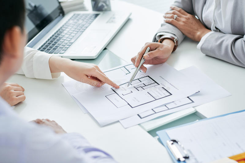 Talking to investores stock photo image of blueprint 74279094 download talking to investores stock photo image of blueprint 74279094 malvernweather Images
