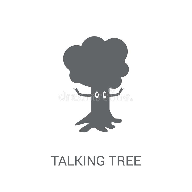 Flat Modern Colored Logo Collection: Talking Tree Stock Illustration. Illustration Of Color