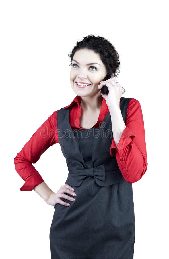 Download Talking Woman With The Cellular Stock Image - Image: 21956357