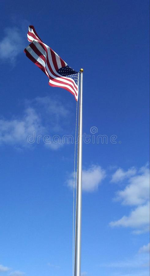Tall American flag royalty free stock image