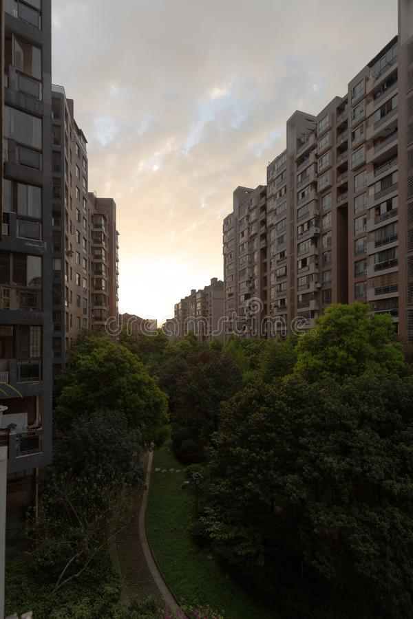 Tall apartment buildings in changsha china royalty free stock photography