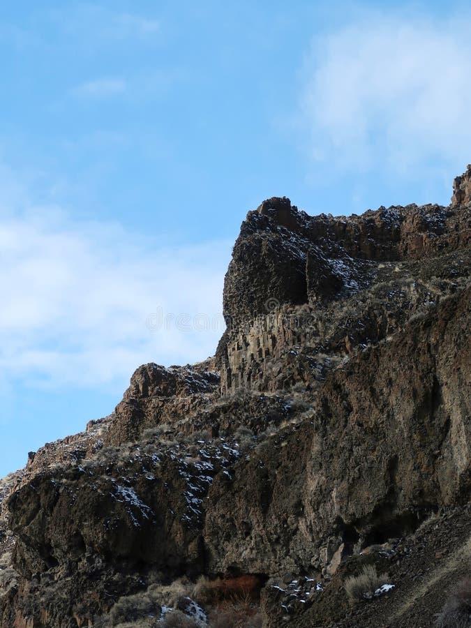 Tall basalt cliffs stock photo