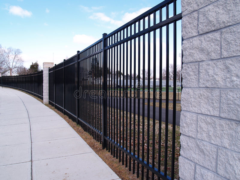 Tall Black Fence Stock Photo Image Of Metal Locked