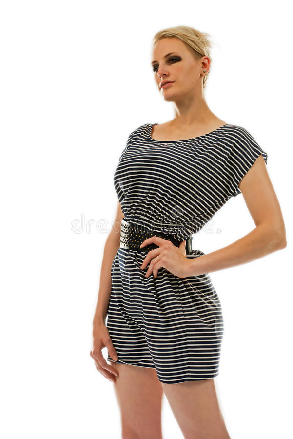 Download Tall Blond Woman In A Dress Stock Image - Image: 25855553