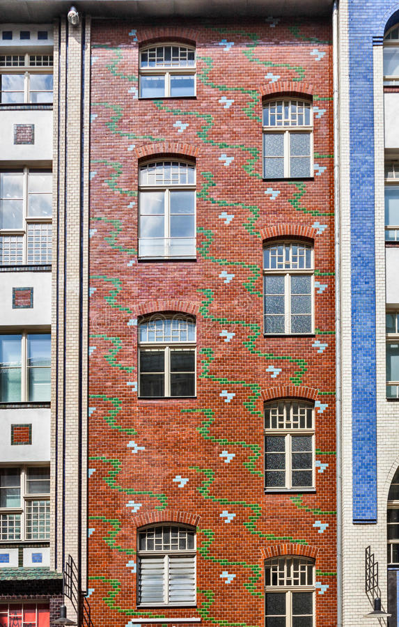 Perfect Download Tall Brick Building With Pattern Stock Photo   Image Of Office,  Architecture: 33573764