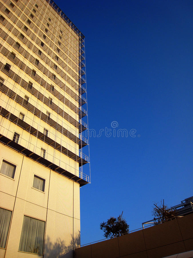 Tall building and blue sky