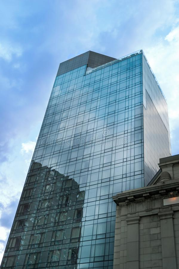 Tall building, Downtown Manhattan, New York City, NY. Tall building in downtown Manhattan, New York City, NY royalty free stock photography