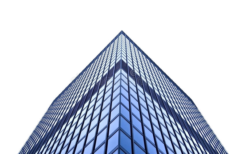 Tall building isolated on white royalty free stock photos