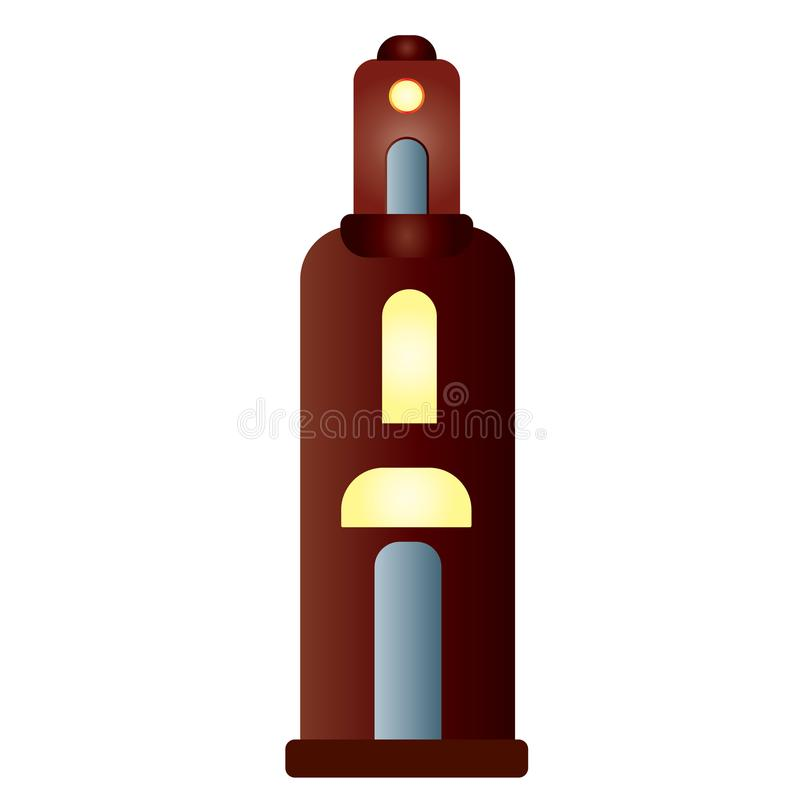 A tall building resembling a bottle royalty free illustration