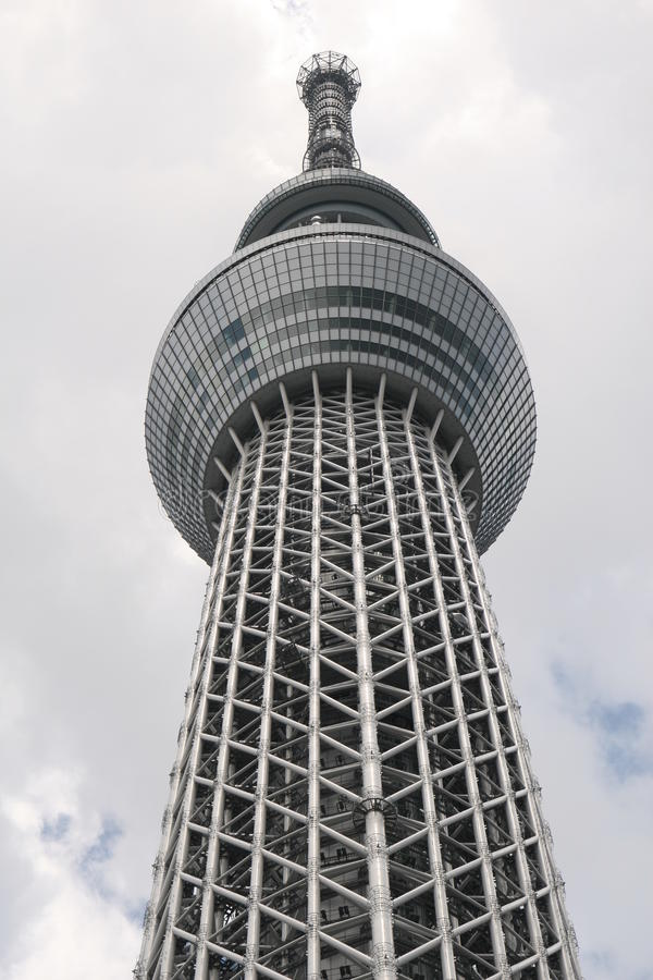 Tall building in Tokyo royalty free stock photography