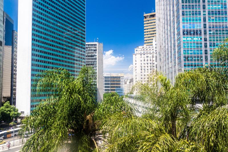 Buildings in the downtown of RIo de Janeiro. Tall buildings in the downtown of RIo de Janeiro, Brazil royalty free stock photo