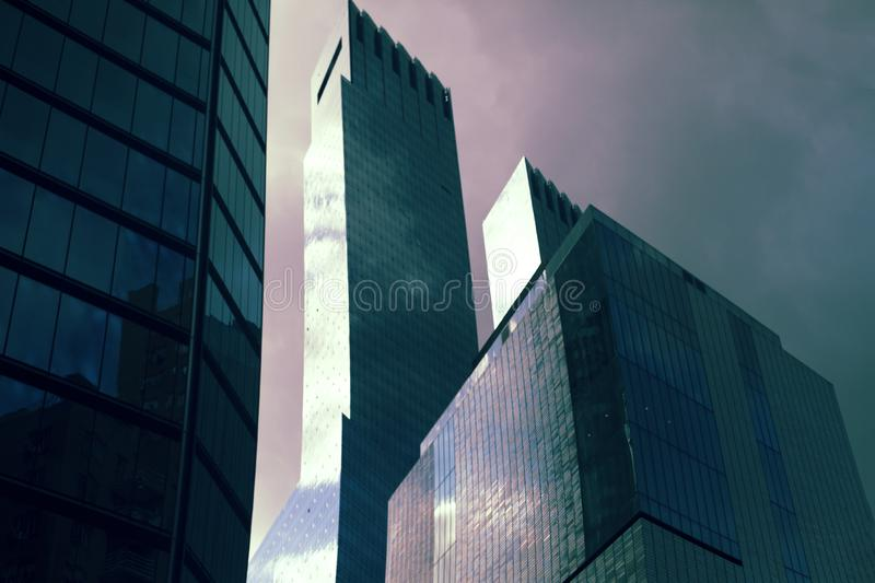 Sky Risers Near Columbus Circle in New York City royalty free stock photo