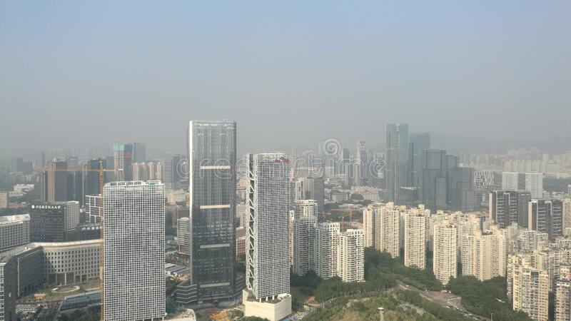 Tall buildings in Shenzhen, China stock photo