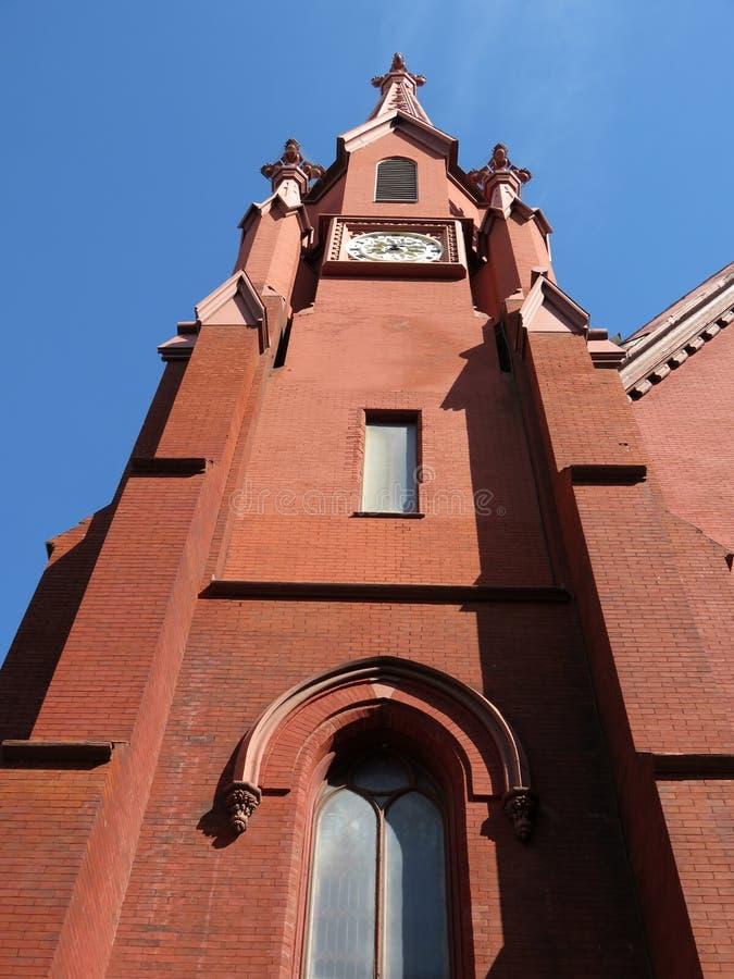 Free Tall Calvary Baptist Church Steeple Royalty Free Stock Photos - 112081938
