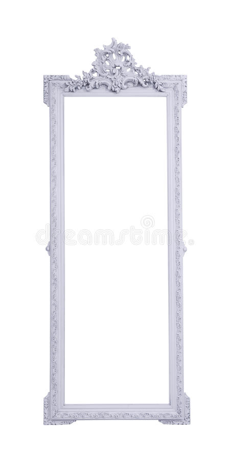 Tall carved frame stock image