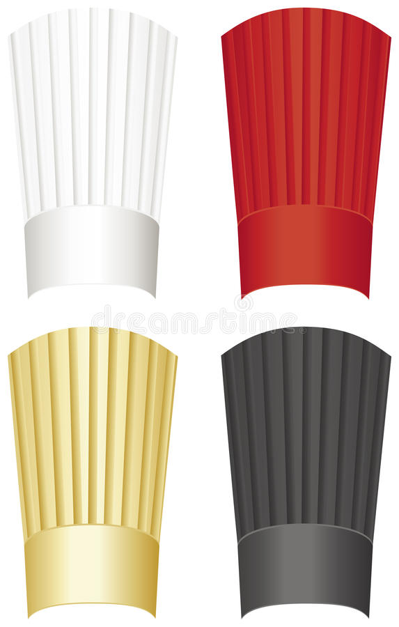 Tall Chef hat vector icon stock vector. Illustration of
