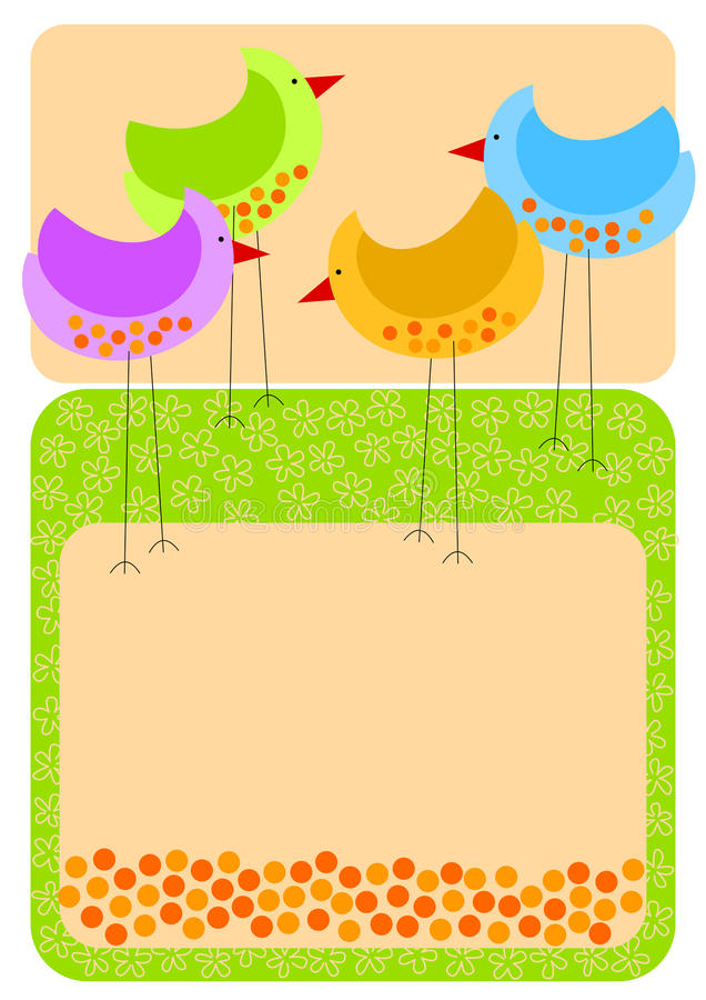 Tall chicken invitation card royalty free illustration