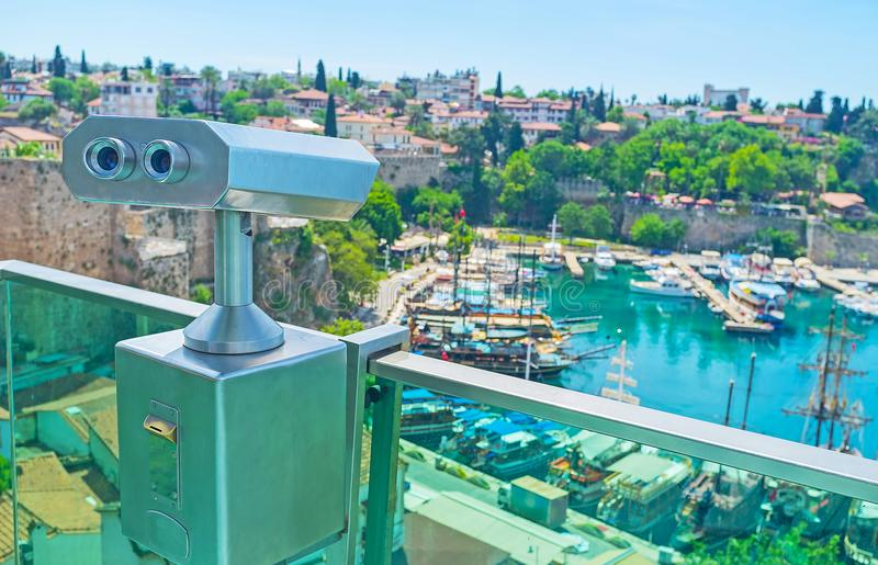 The viewpoints in old Antalya royalty free stock photos