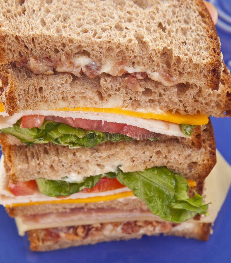 Download Tall Club Sandwich Stock Photography - Image: 14368942