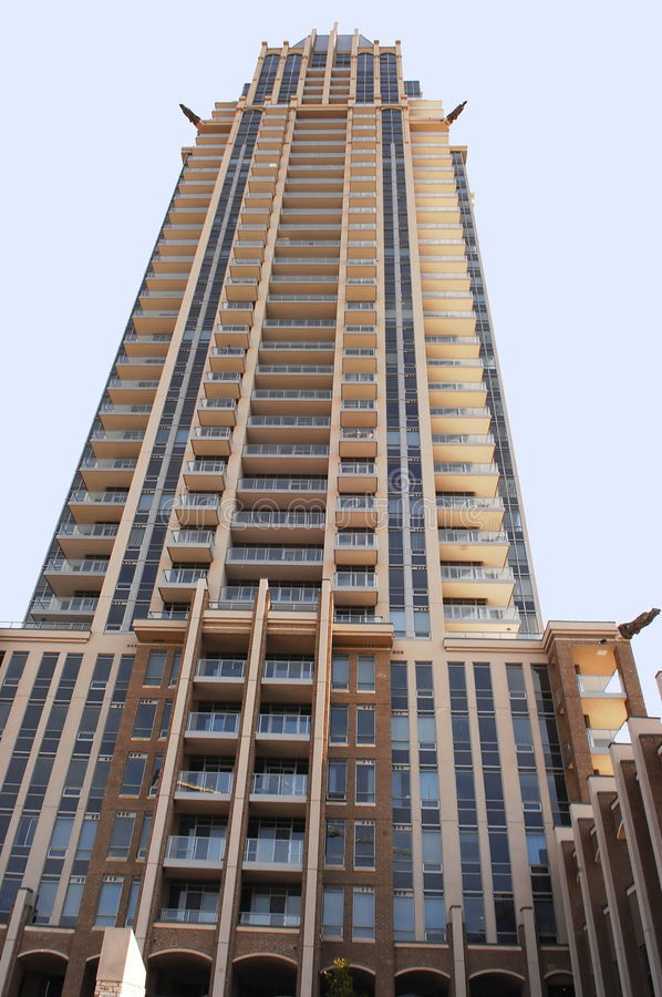 Tall condo high rise. Very nice looking high rise condominium in the city of Mississauga stock photography
