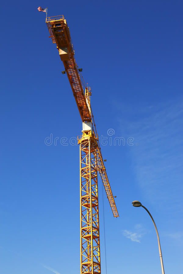 Tall Crane At Work. Stock Image