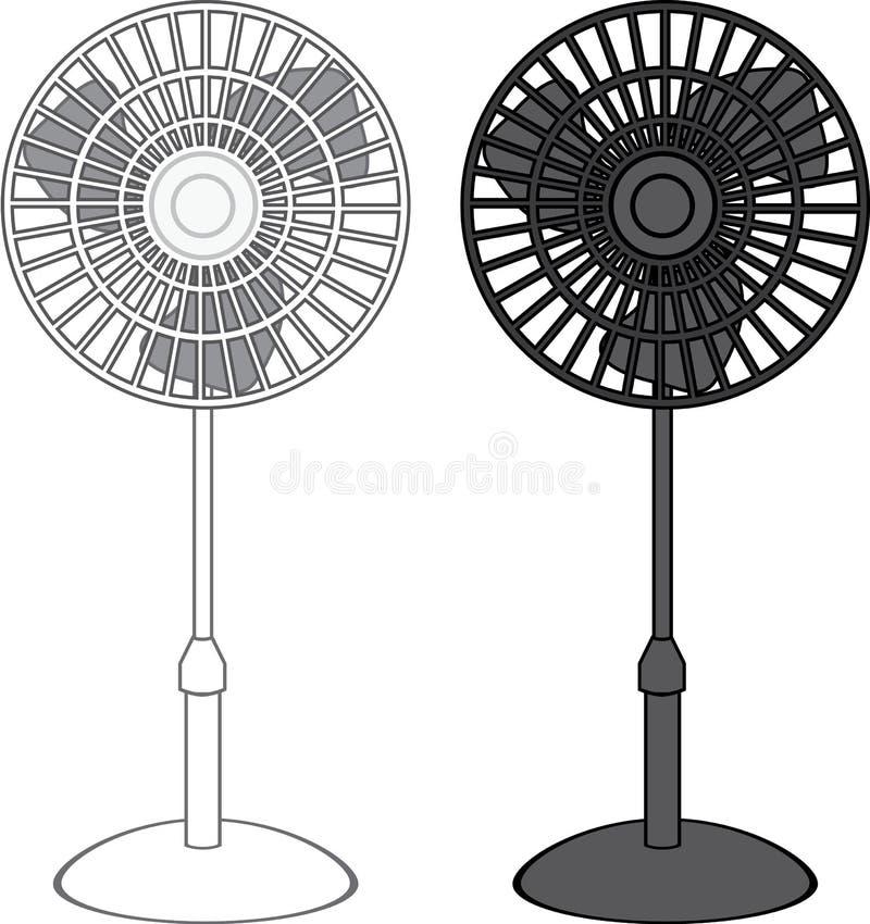 Fan Blade Clip Art : Tall fan vector stock image