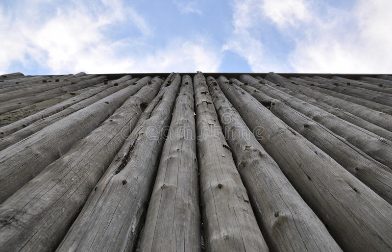Tall Fortress Wooden Wall