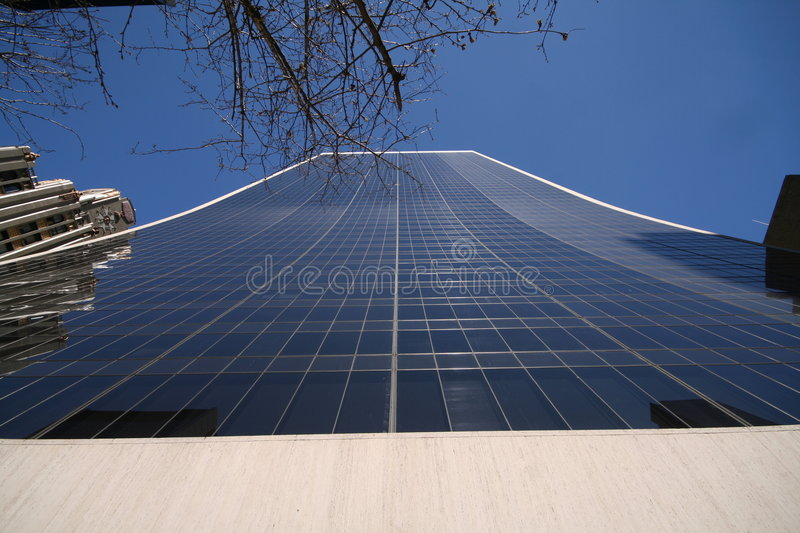 Tall glass building stock photo