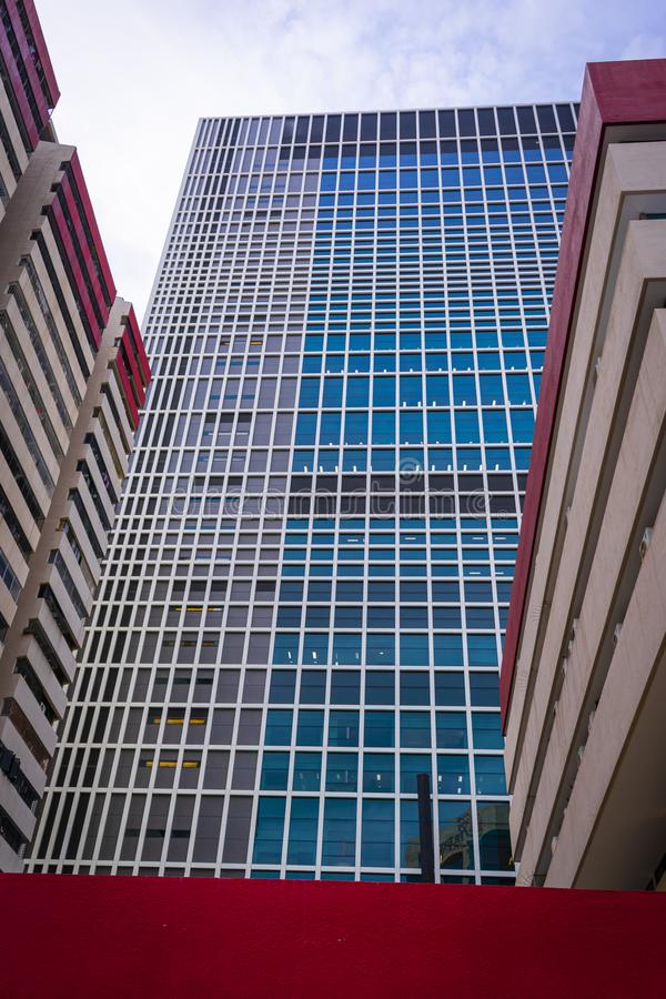 Tall glass building reaching the sky royalty free stock photo