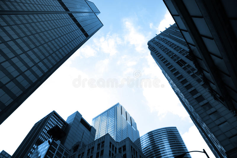 Tall glass buildings royalty free stock image