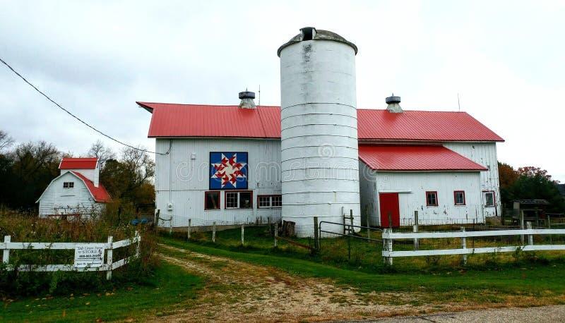 Tall Grass Farm, Patriotic Quilt Barn, Delavan, Wisconsin royalty free stock photos