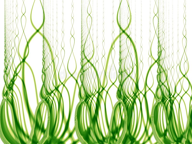 Tall Green Grass and Weeds royalty free illustration