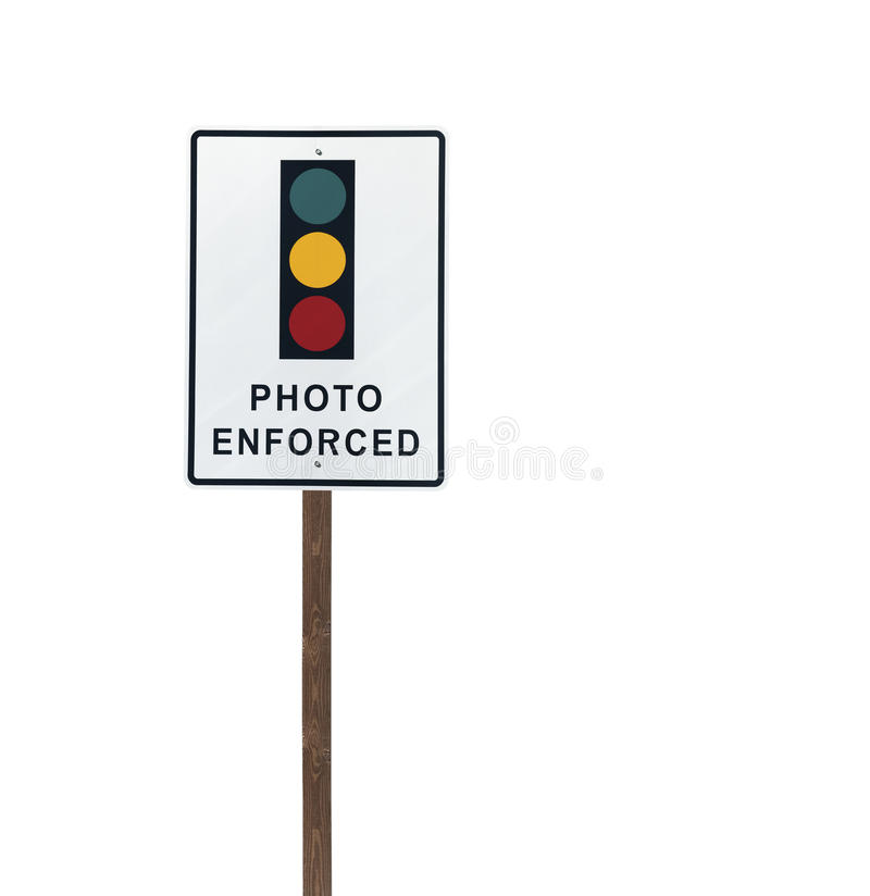 Download Tall Isolated Photo Enforced Signal Sign Stock Image - Image: 24435221