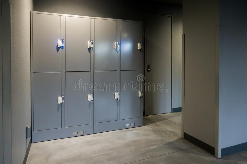 Perspective Image With A Tall Lockers Changing Room In Sport Clu