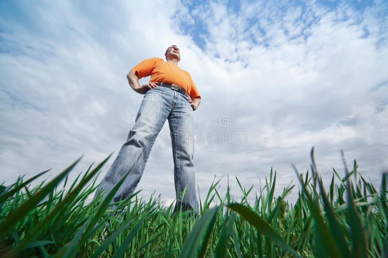 Tall man stock image