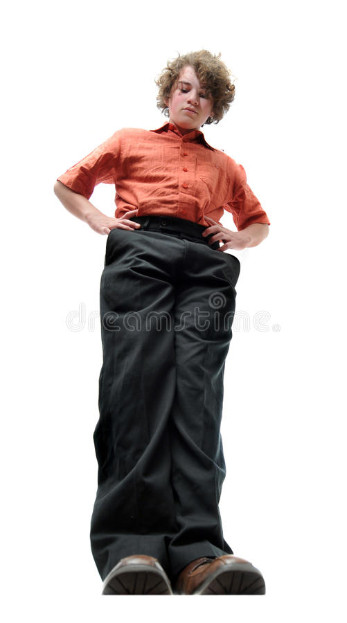 Tall Man Looking Down Stock Photos