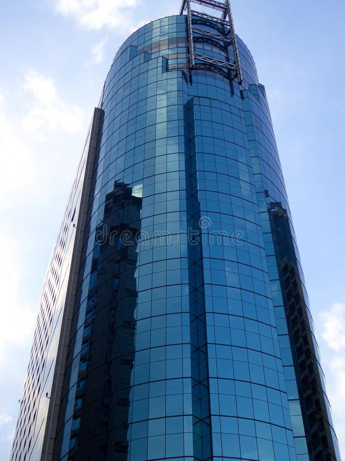 Tall modern building in Shanghai stock photography