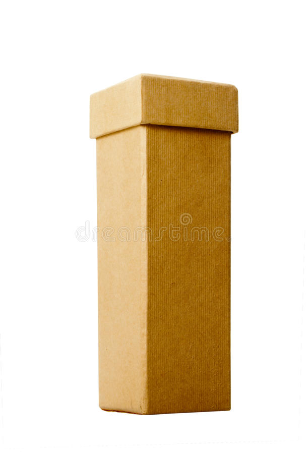 Tall Narrow Cardboard Box royalty free stock photo