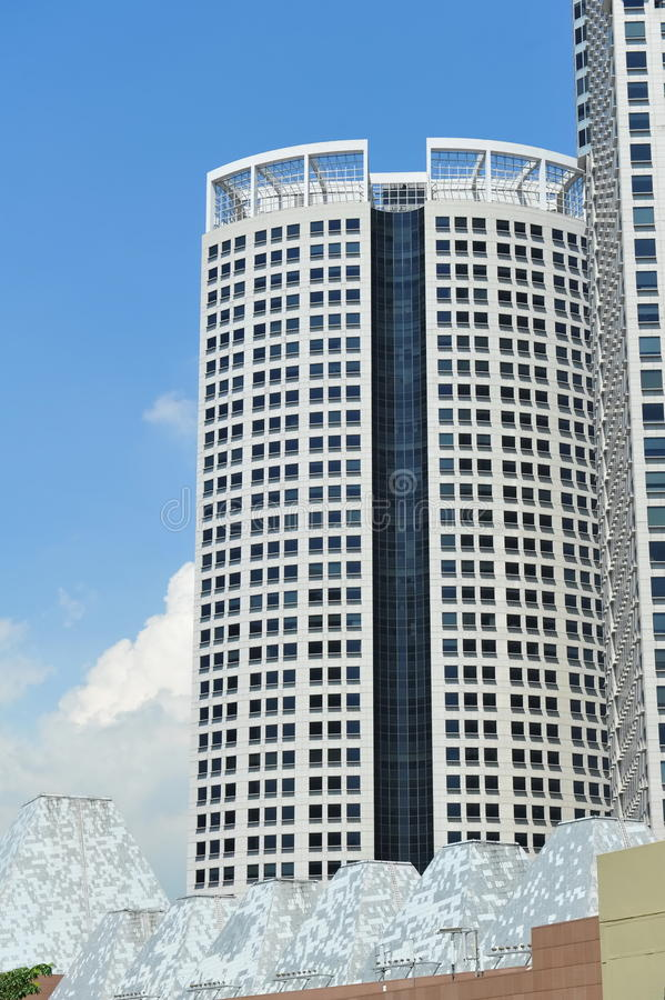 Tall office building. Modern tall office building in the city royalty free stock photography