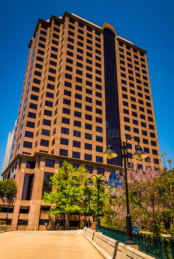 Tall office building in downtown Richmond, Virginia. Tall office building in downtown Richmond, Virginia royalty free stock photos