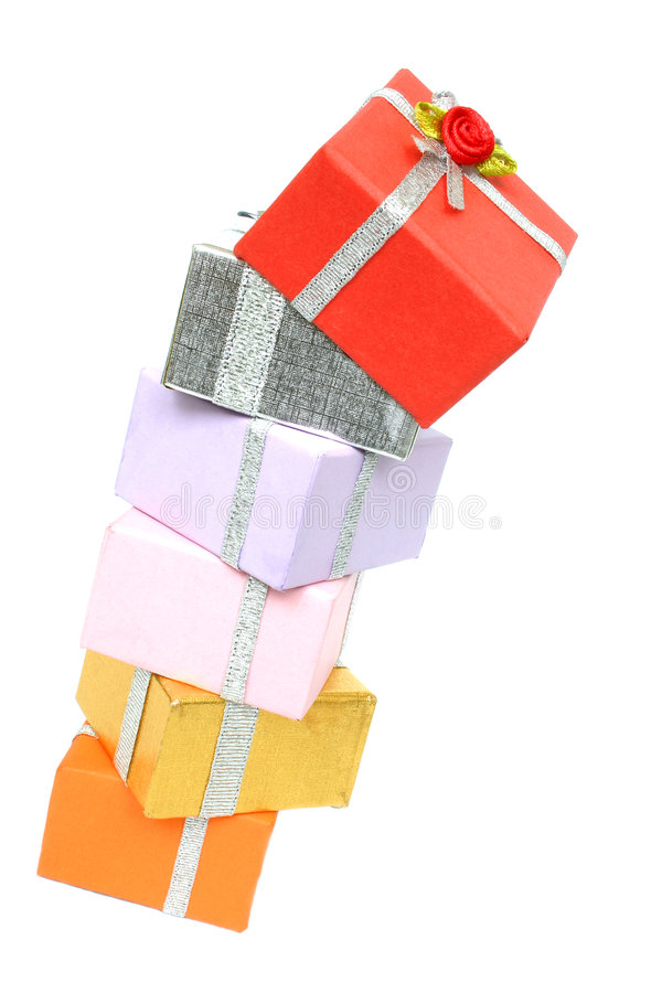 Tall Pile of Presents royalty free stock photo