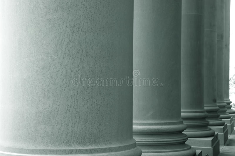 Tall pillars royalty free stock image