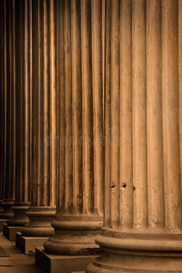 Tall pillars royalty free stock photos
